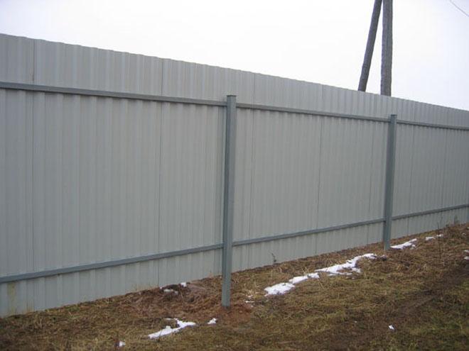 забор профнастил